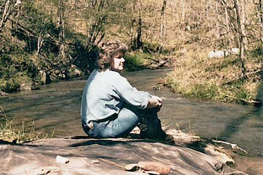 Becky at Mill Creek after funeral